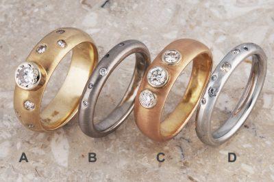 Starry Nite Series Wedding Rings