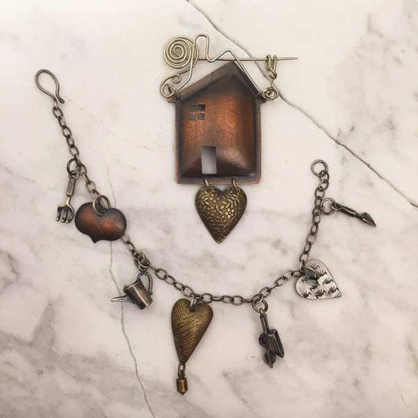 Melissa Lovingood - Home & Heart Booch and Bracelet