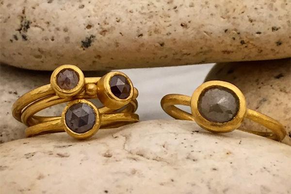 Andrea Jerome Diamond Rings